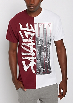 Lit Skyline Split Tee