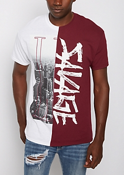 Savage Skyline Split Tee