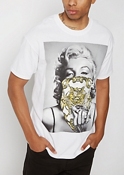 Gold Chain Marilyn Tee