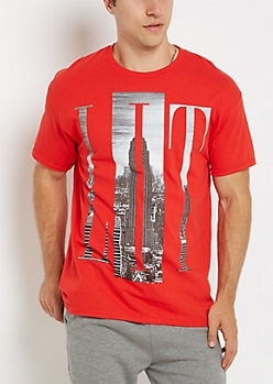 Lit City Skyline Fill Tee