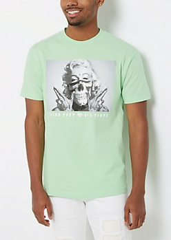 Live Fast Marilyn Neon Tee