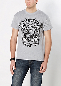 Cali Bear Attack Tee