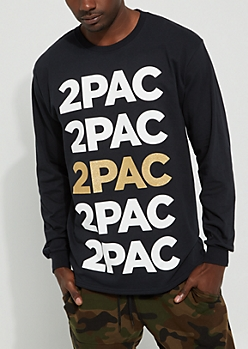 2Pac Golden Long Sleeve Tee