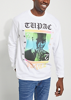 Tupac Ombre Long Sleeve Tee