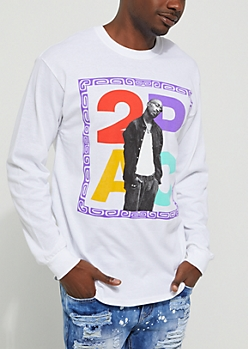 Throwback 2Pac Long Sleeve Tee