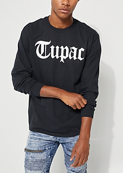 Tupac Only God Can Judge Long Sleeve Tee