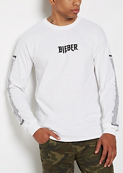 Justin Purpose Tour Long Sleeve Tee