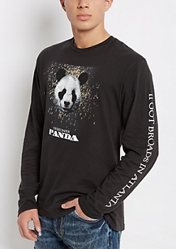 Panda Logo Long Sleeve Tee By Desiigner