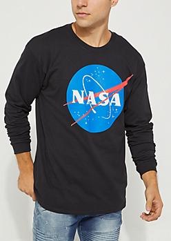 Black NASA Long Sleeve Tee