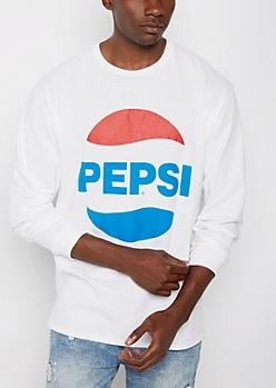 Retro Pepsi Logo Long Sleeve Tee