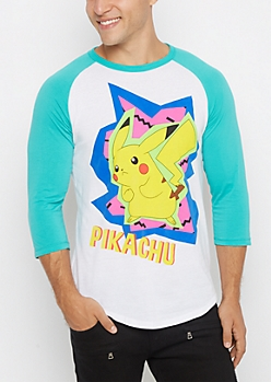Retro Pikachu Raglan Tee