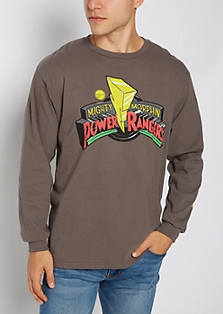 Power Rangers Logo Long Sleeve Tee