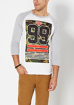 Paint Splattered 99 Baseball Top