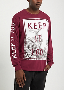 Keep It 100 Long Sleeve Tee