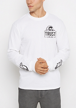 Trust No One Skeleton Top