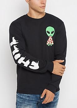 Pizza & Chill Alien Top