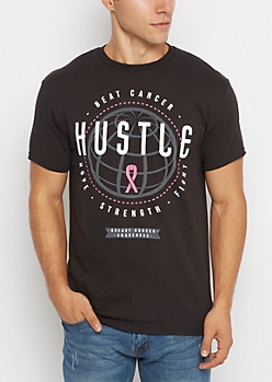 Hustle & Beat Cancer Tee