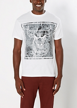Marbled Chicago Bulls Tee