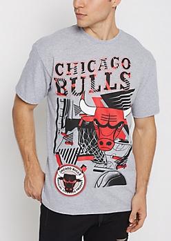 Chicago Bulls Geo Logo Tee