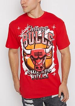 Chicago Bulls Graffiti Logo Tee
