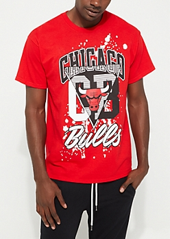 Chicago Bulls Geo Split Tee