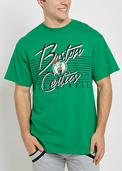 Boston Celtics Vintage Striped Tee