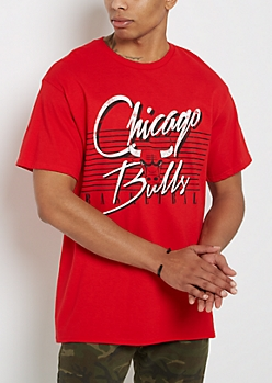 Chicago Bulls Vintage Striped Tee