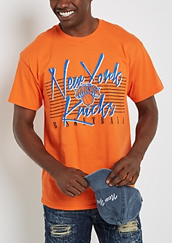 New York Knicks Vintage Striped Tee