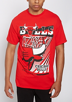 Chicago Bulls Mixed Graphic Tee