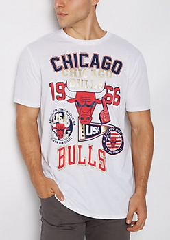 Chicago Bulls Logo Patched Tee