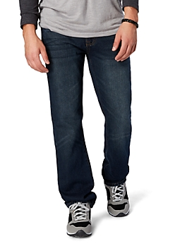 Pinched Pocket Dark Wash Slim Straight Jean