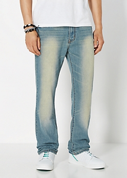Vintage Washed Relax Straight Jean