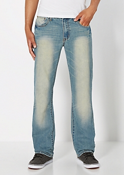 Vintage Wash Nicked Boot Jean