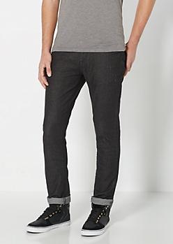 Freedom Flex Black Nicked Skinny Jean