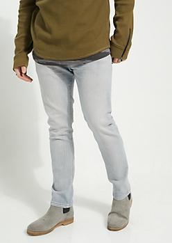 Flex Light Blue Sandblasted Slim Straight Cut Jeans