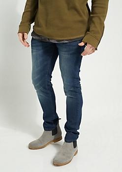 Flex Dark Blue Sandblasted Skinny Jeans