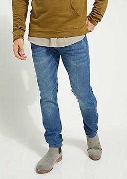 Flex Medium Blue Sandblasted Skinny Jeans