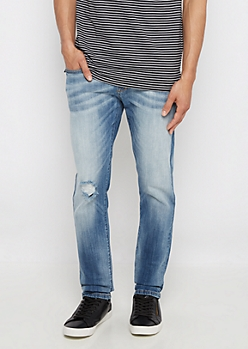 Flex Ripped & Sandblasted Skinny Jean
