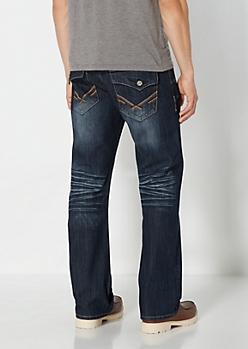 Vintage Dark Blue Boot Jean