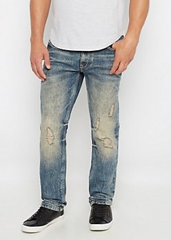 Dirty Wash Destroyed Slim Jean
