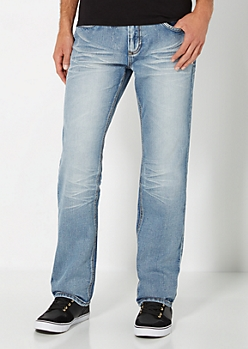 Sandblasted & Baked Slim Straight Jean