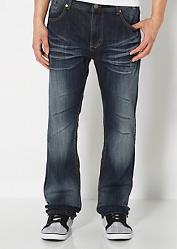 Whiskered Relaxed Straight Jean