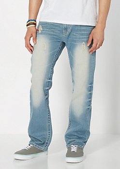 Destroyed Relaxed Straight Jean