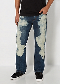 Vintage Bleached Relaxed Straight Jean