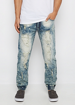 Freedom Flex Destroyed Acid Washed Jean Jogger