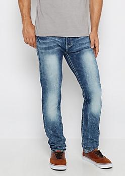 Freedom Flex Acid Washed Skinny Jean
