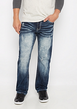Freedom Flex Sandblasted & Nicked Relaxed Straight Jean