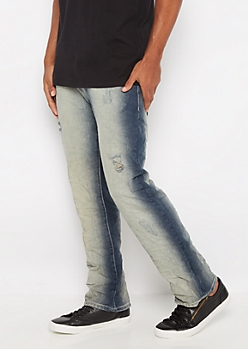 Distressed Crinkled Boot Jean