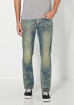Vintage Sandblasted Slim Jean