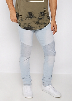 Flex Nicked Moto Skinny Jean